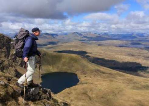 Cultural Services Hiker Enjoying View Scottish Hughlands Sander Van Der Werf