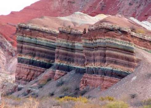 Abiotic Colourful Rock Quebrada De Humauaca, Argentina Thoron