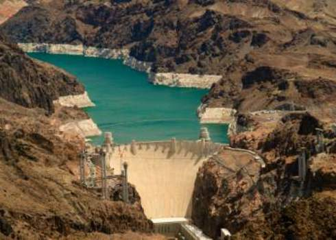 Habitat Modification Aerial Shot Of The Hoover Dam Nevada, Usa Celso Diniz
