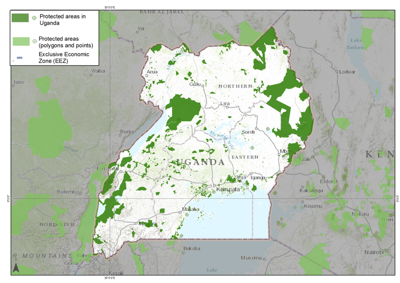 Uganda protected areas